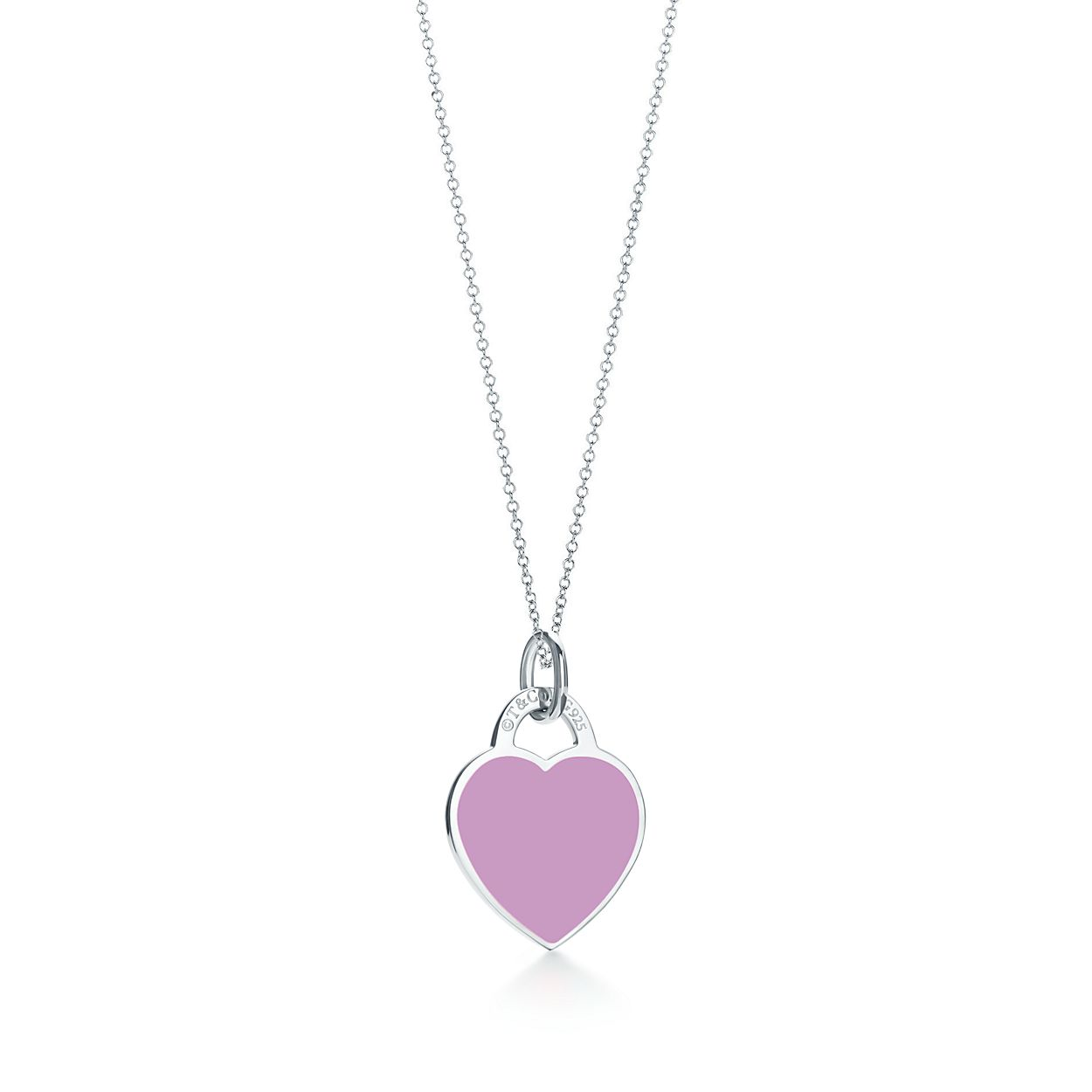 real pc breakpoint heart s quality sterling pure woman purple at high necklace me silver