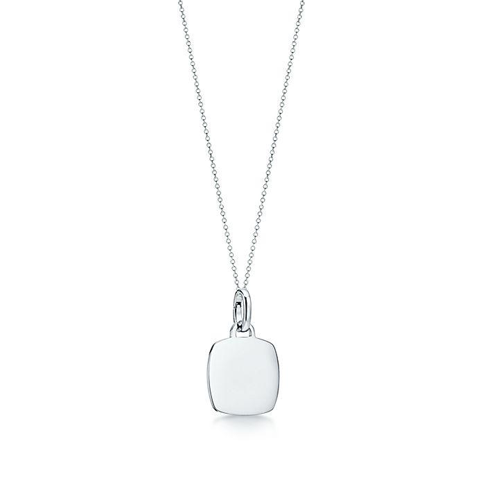 985a1f4ebe Tiffany Charms cushion tag charm in sterling silver, medium ...