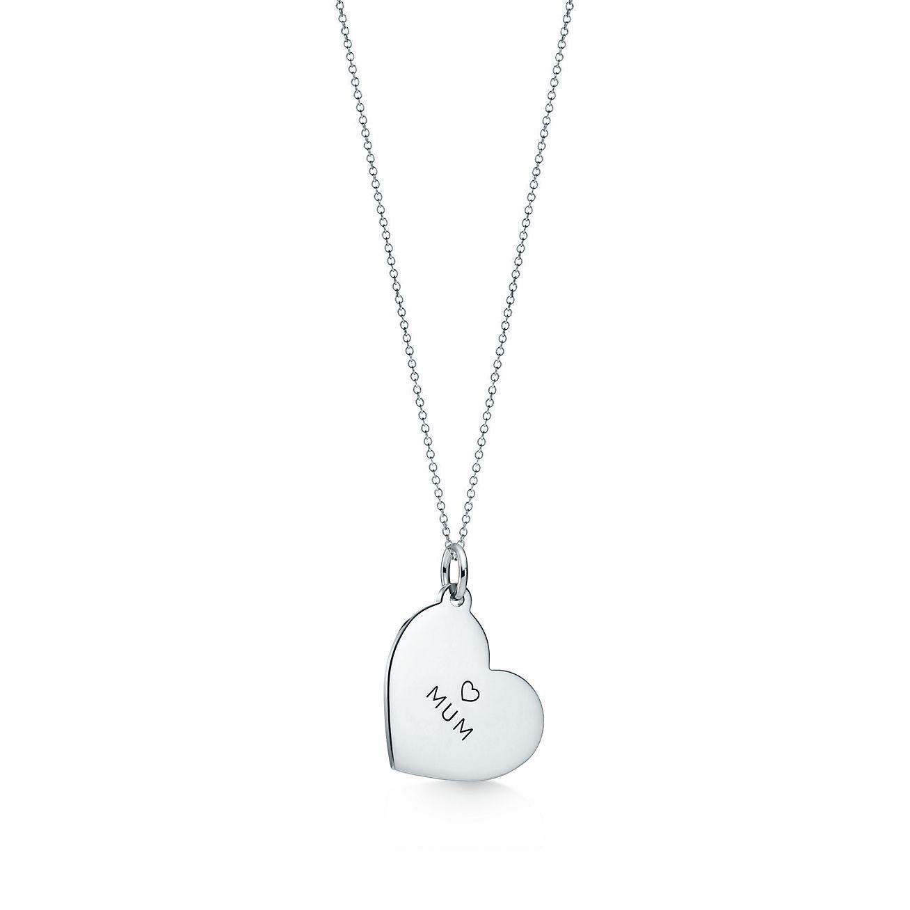 Tiffany Charms Mum heart tag in sterling silver, medium Tiffany & Co.