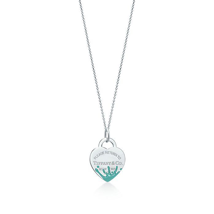 82b8ed347 Return to Tiffany® Color Splash heart tag charm in sterling silver ...