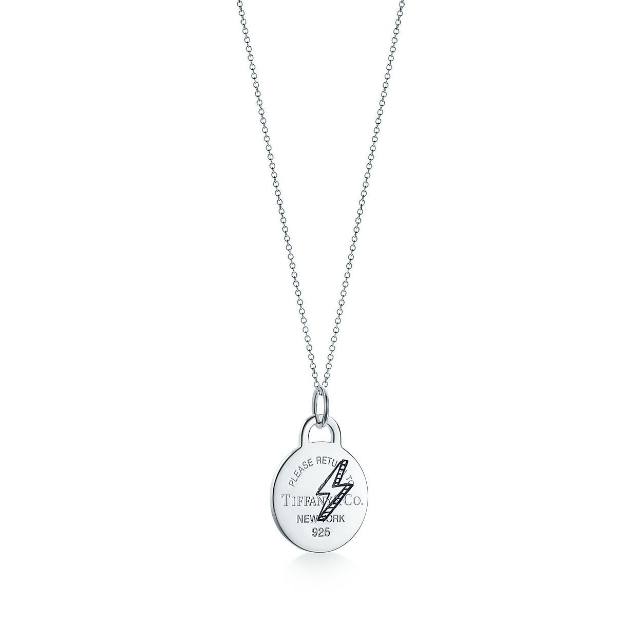 Return to Tiffany Etched lightning bolt pendant in silver with diamonds Tiffany & Co. ZwV7pOftPQ