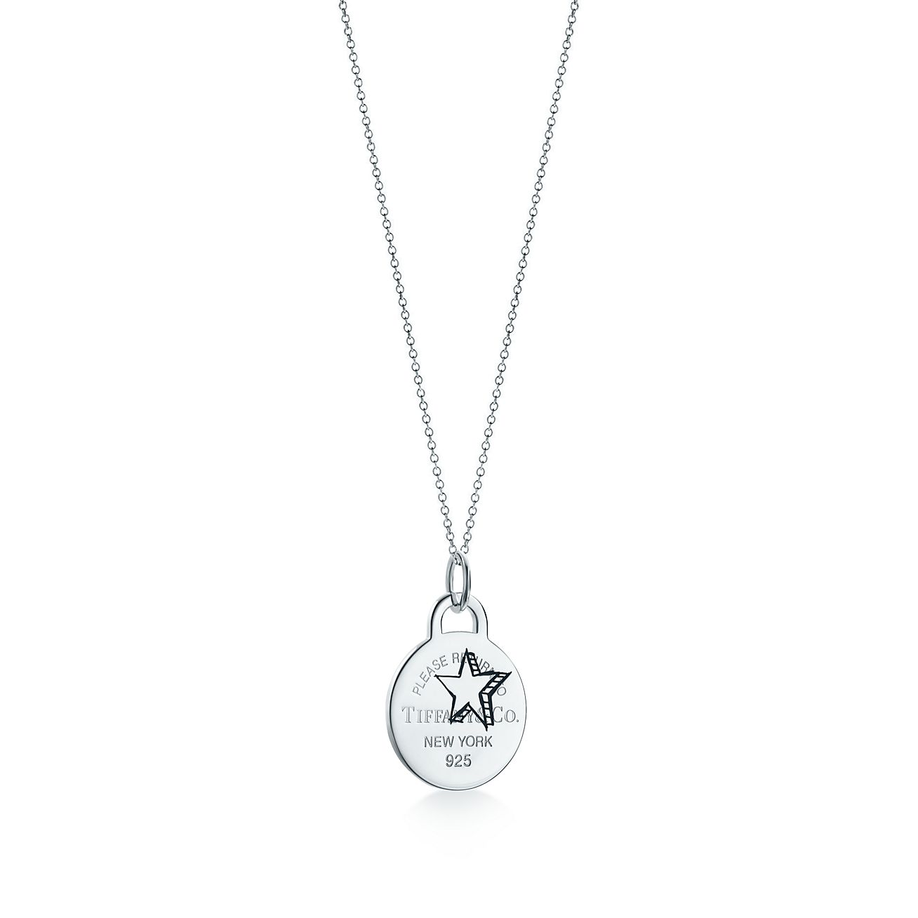 Return to Tiffany Zodiac Sagittarius pendant in sterling silver, large Tiffany & Co.