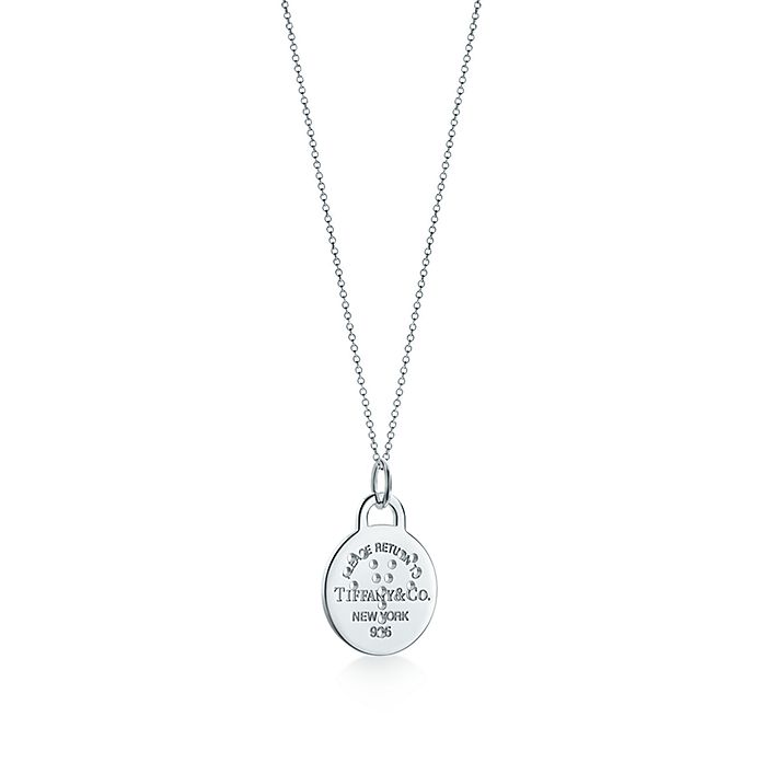 af049594c Return to Tiffany™ Zodiac Aries round tag charm in sterling silver ...