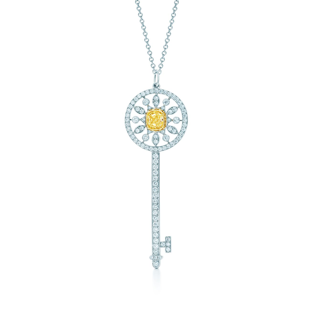 Tiffany keys star key pendant of yellow and white diamonds in tiffany keysstar key pendant aloadofball