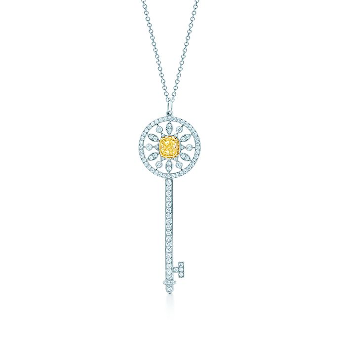 599030215 Tiffany Keys star key pendant of yellow and white diamonds in ...