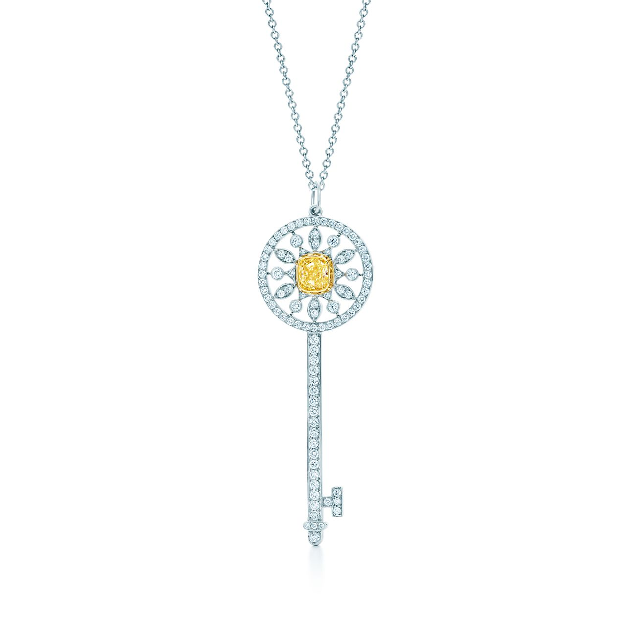 Tiffany keys star key pendant of yellow and white diamonds in tiffany keysstar key pendant mozeypictures Images