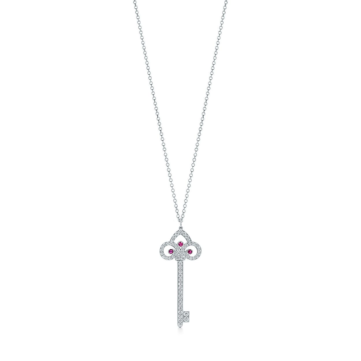 Tiffany keys tiffany fleur de lis key pendant in platinum with tiffany keystiffany fleur de lisbrkey pendant aloadofball Images