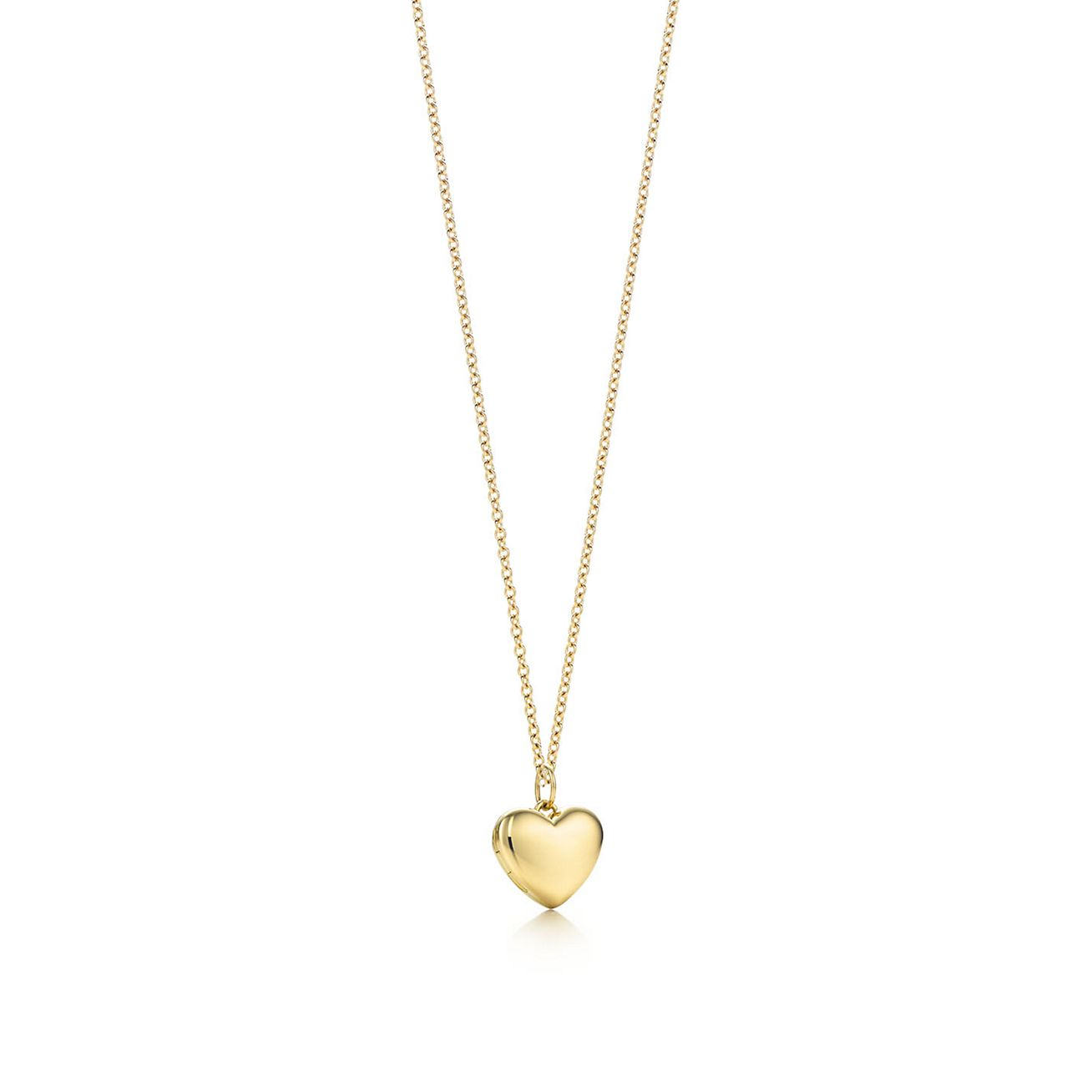 Heart locket pendant in 18k gold small tiffany co heart locket pendant mozeypictures