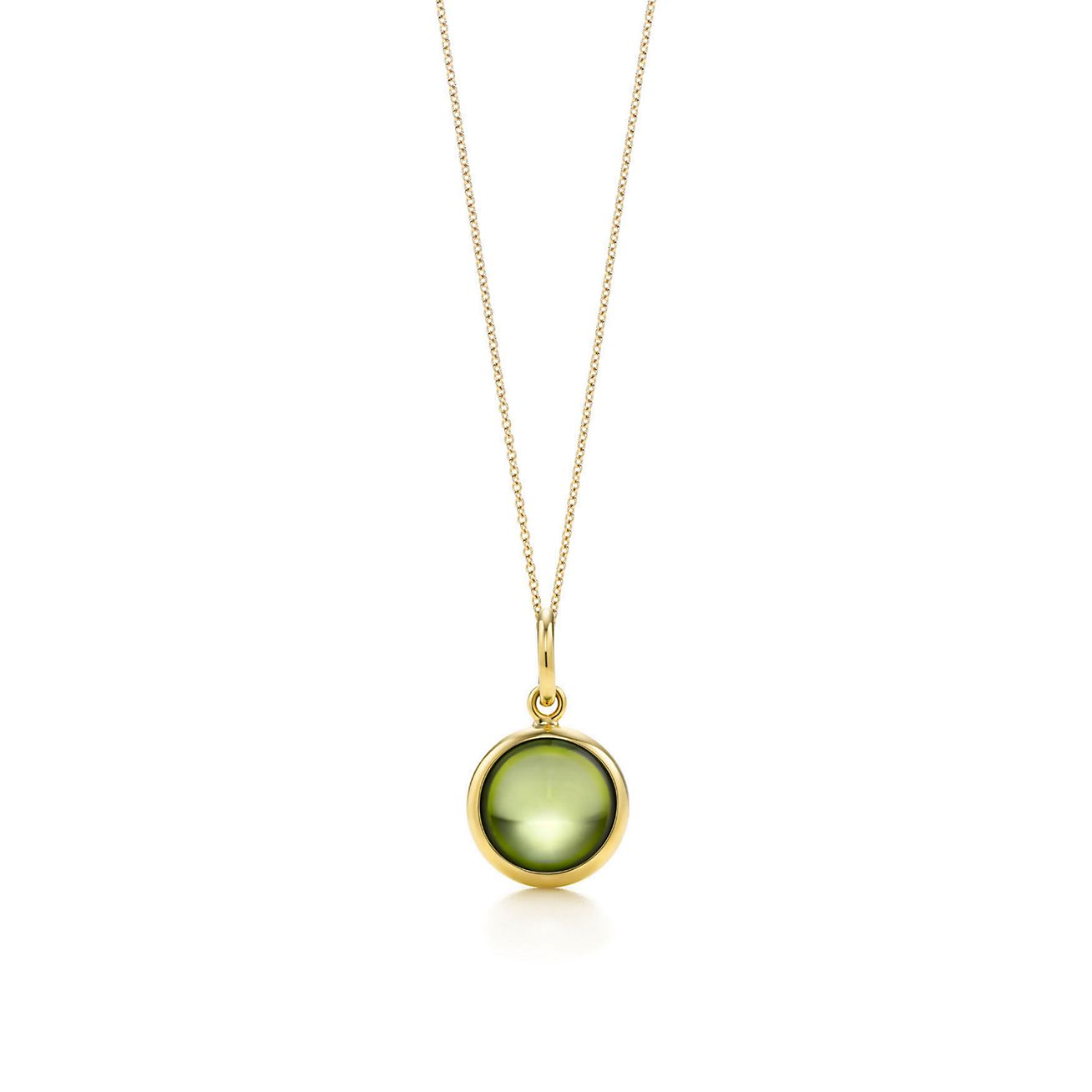 gold in heart ct pendant necklace peridot