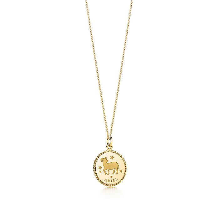 8aed309a3 Zodiac charm in 18K gold on a chain. All signs available. | Tiffany ...