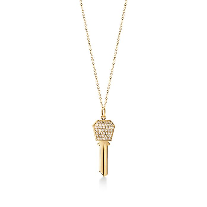 0b32911eb Tiffany Keys modern keys hexagon key in 18k gold with diamonds ...