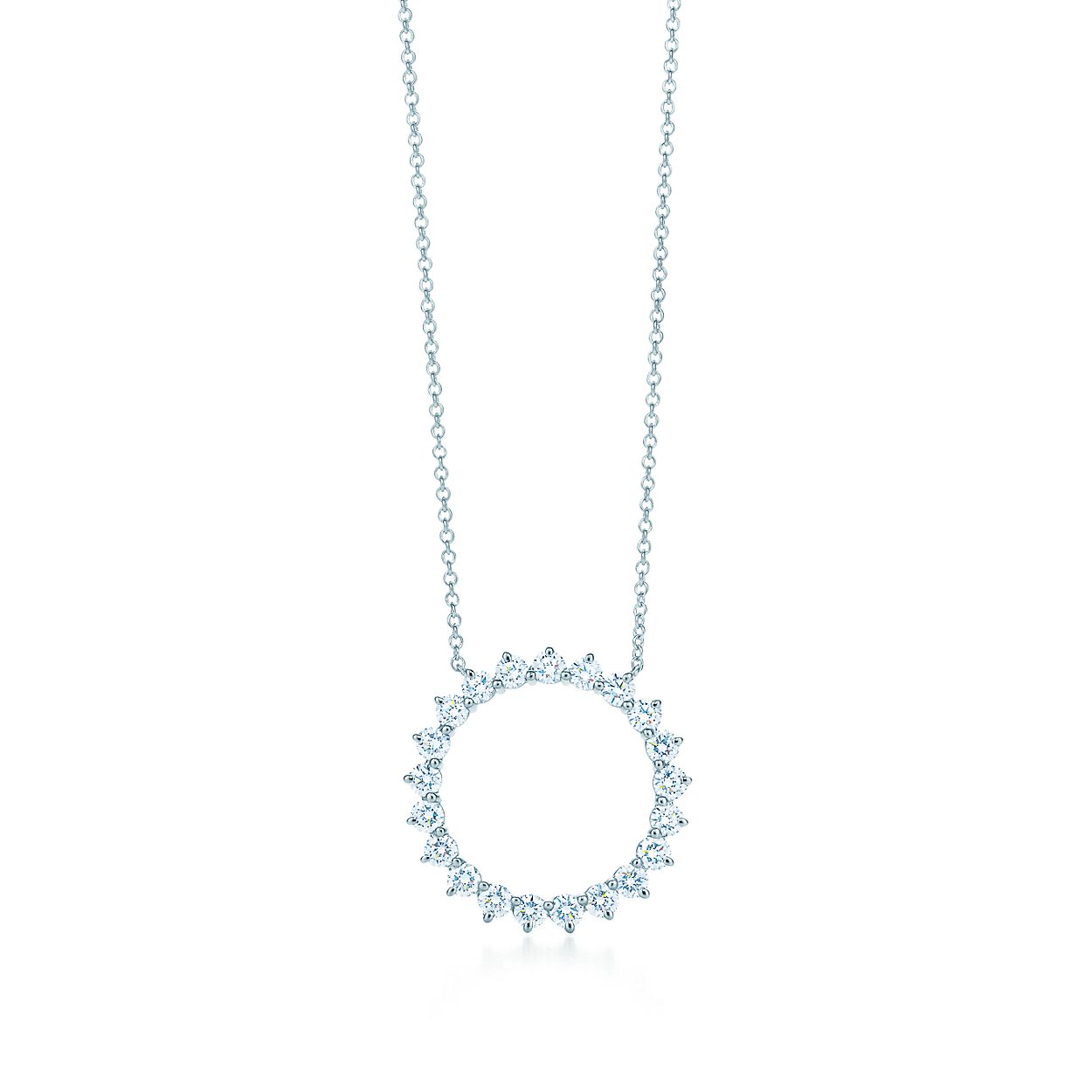 875e32a0d Tiffany Circle Diamond Pendant Necklace - Pendant Design Ideas