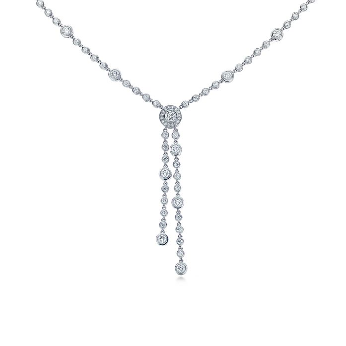 18bd33eda5cec Tiffany Circlet double drop necklace with diamonds in platinum ...