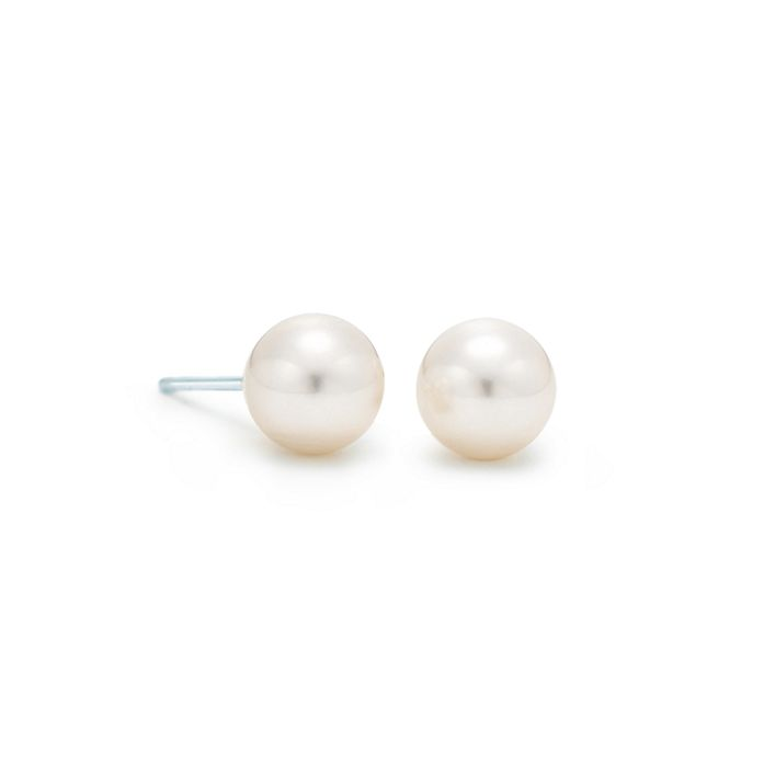 1f23aa24037793 Tiffany Signature® Pearls earrings of Akoya cultured pearls in 18k ...