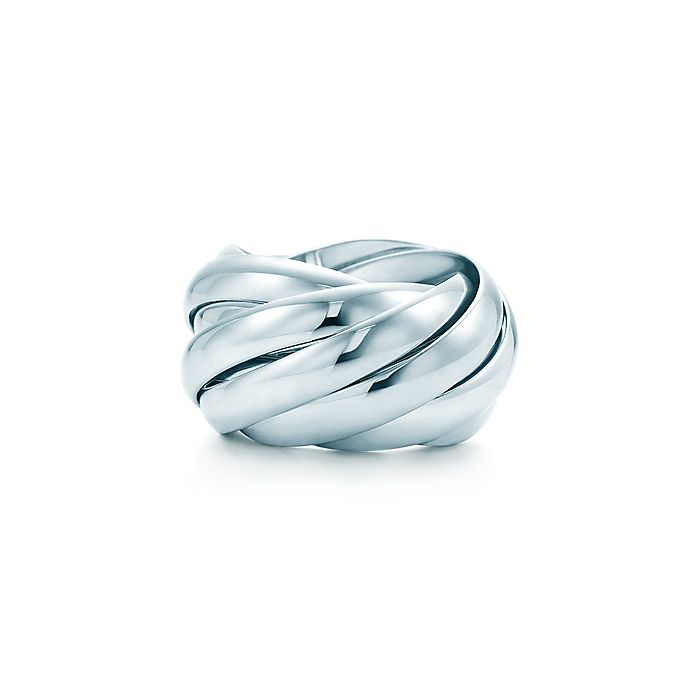 f56ac26c0 Paloma's Melody nine-band ring in sterling silver. | Tiffany & Co.