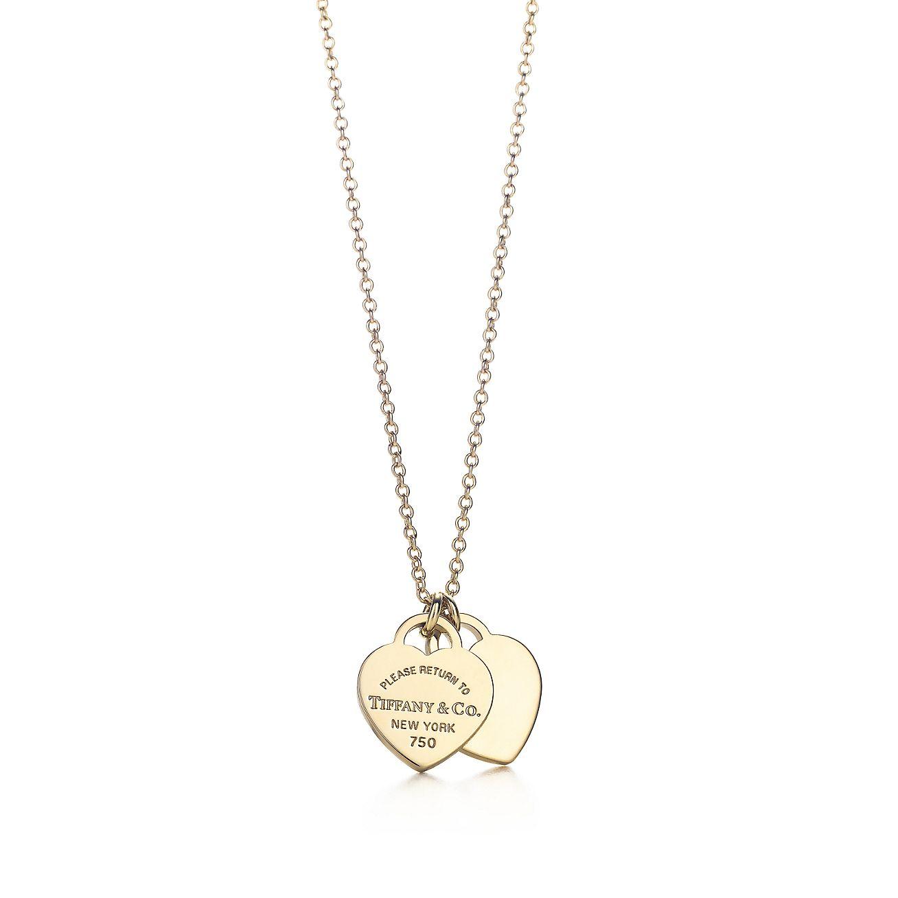 Return to tiffany mini double heart tag pendant in 18k gold return to tiffanymini double heart tag pendant aloadofball Gallery