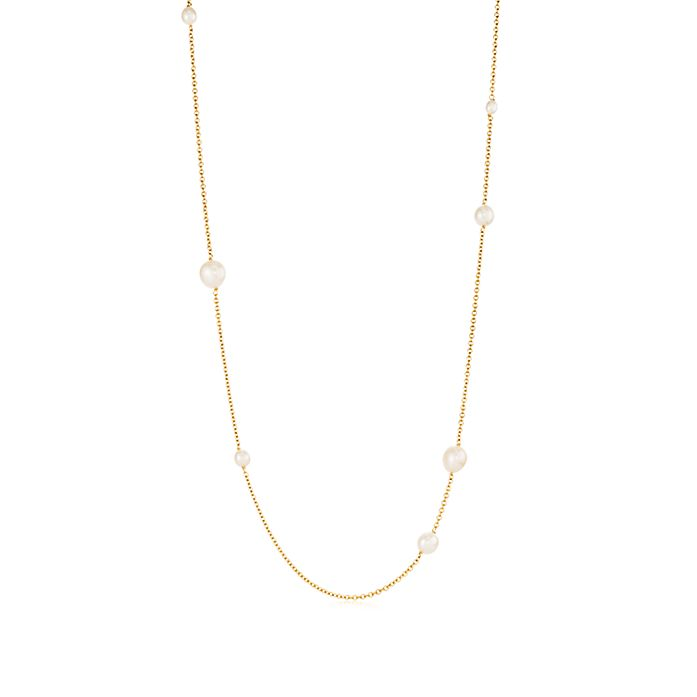 16ec09b1a Elsa Peretti® Pearls by the Yard™ sprinkle necklace in 18k gold ...
