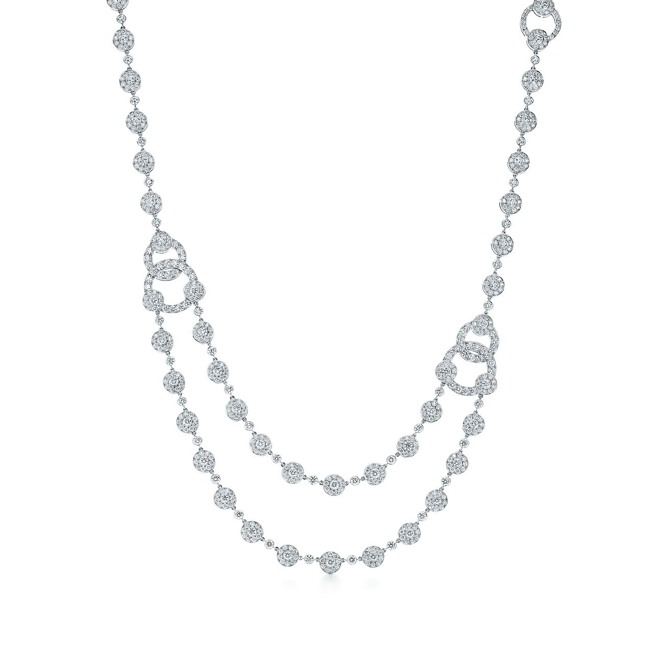 Tiffany Circlet diamond necklace in platinum.  74b51f19dc8a