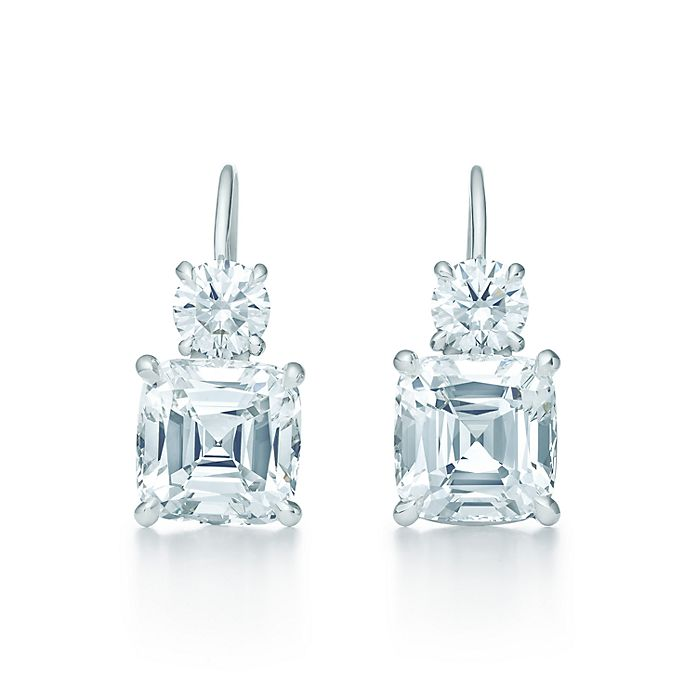 a4023d554 Tiffany Legacy™ earrings in platinum with diamonds.   Tiffany & Co.