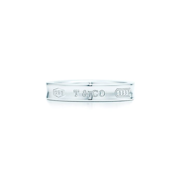 7d42893e4 Tiffany 1837® narrow ring in sterling silver. | Tiffany & Co.