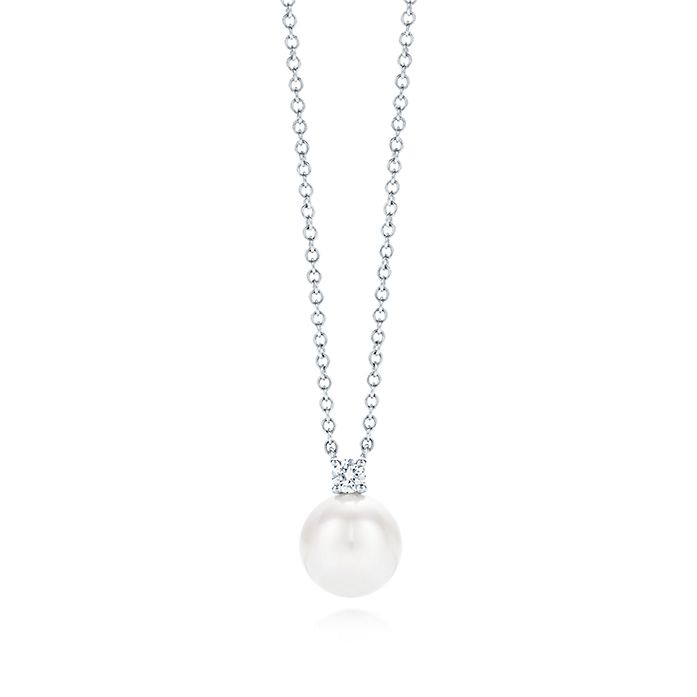 9338d2fd7 Tiffany Signature® Pearls pendant in 18k white gold with a pearl and ...