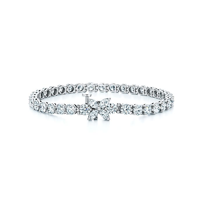 ed8f41967 Tiffany Victoria® line bracelet in platinum with diamonds. | Tiffany ...