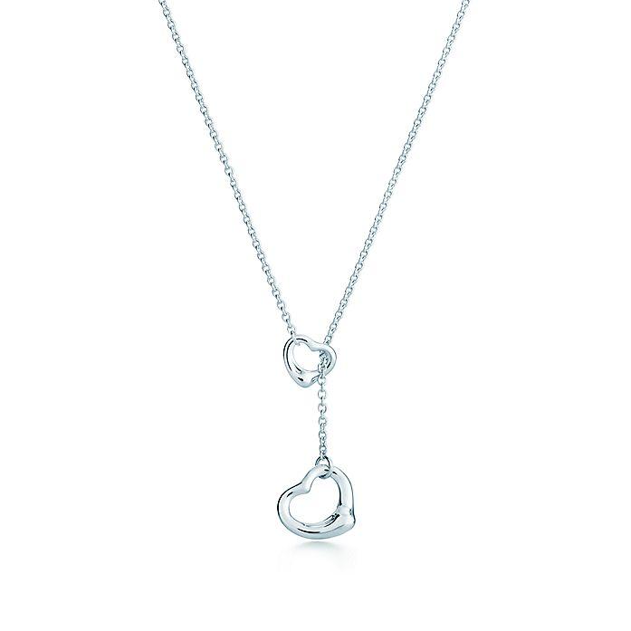 35e0652d7 Elsa Peretti® Open Heart lariat in sterling silver. | Tiffany & Co.