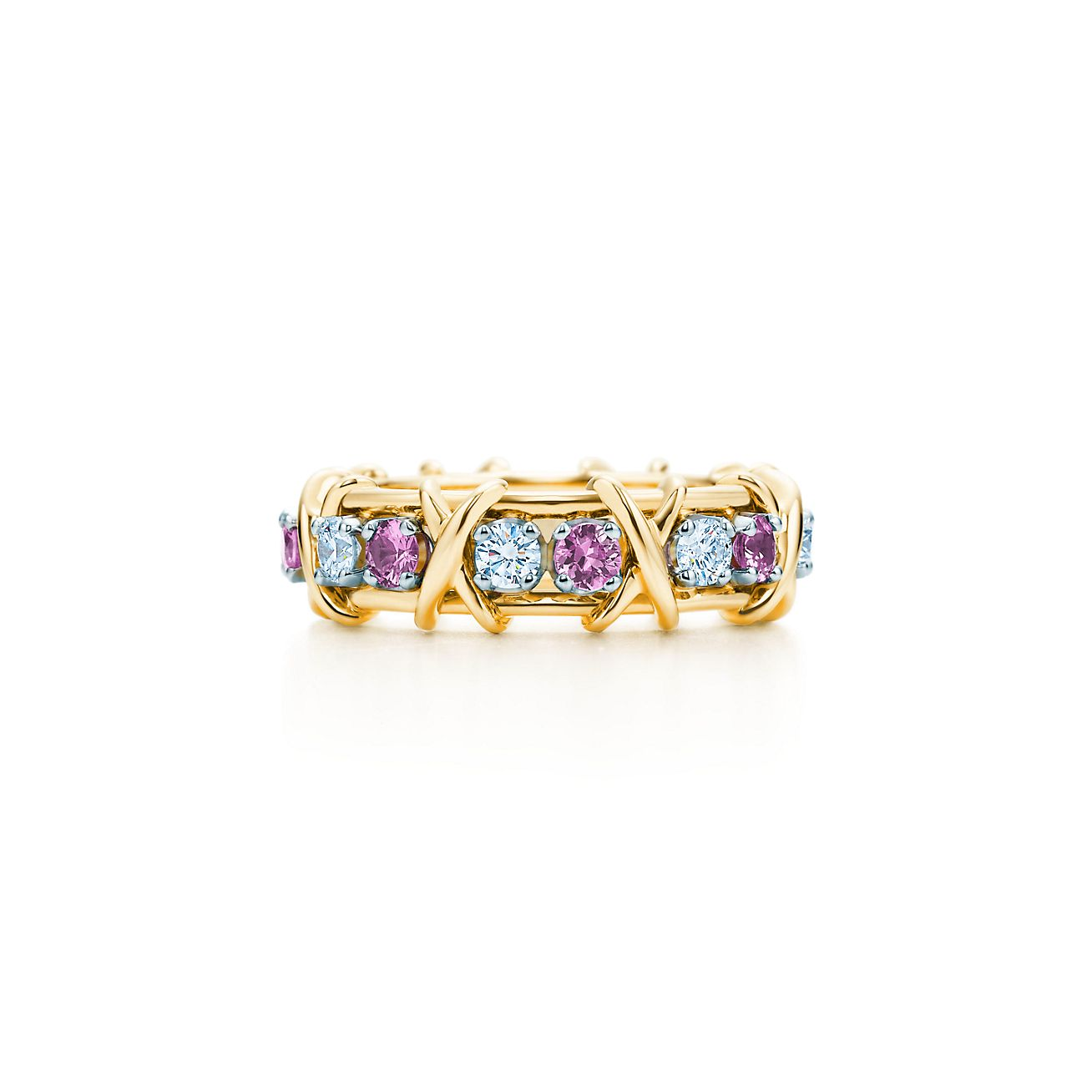 rings product page com of pink band sterling qvc cttw colors ring stone sapphire