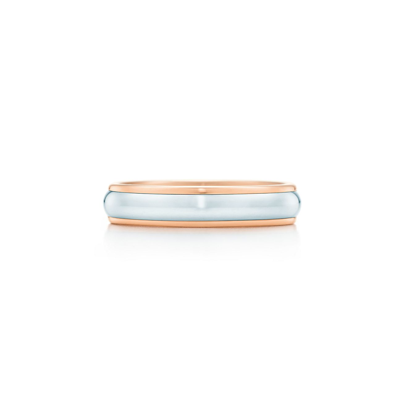 Tiffany classic wedding band ring in 18k rose gold and platinum 4 tiffany classicwedding band ring junglespirit Gallery