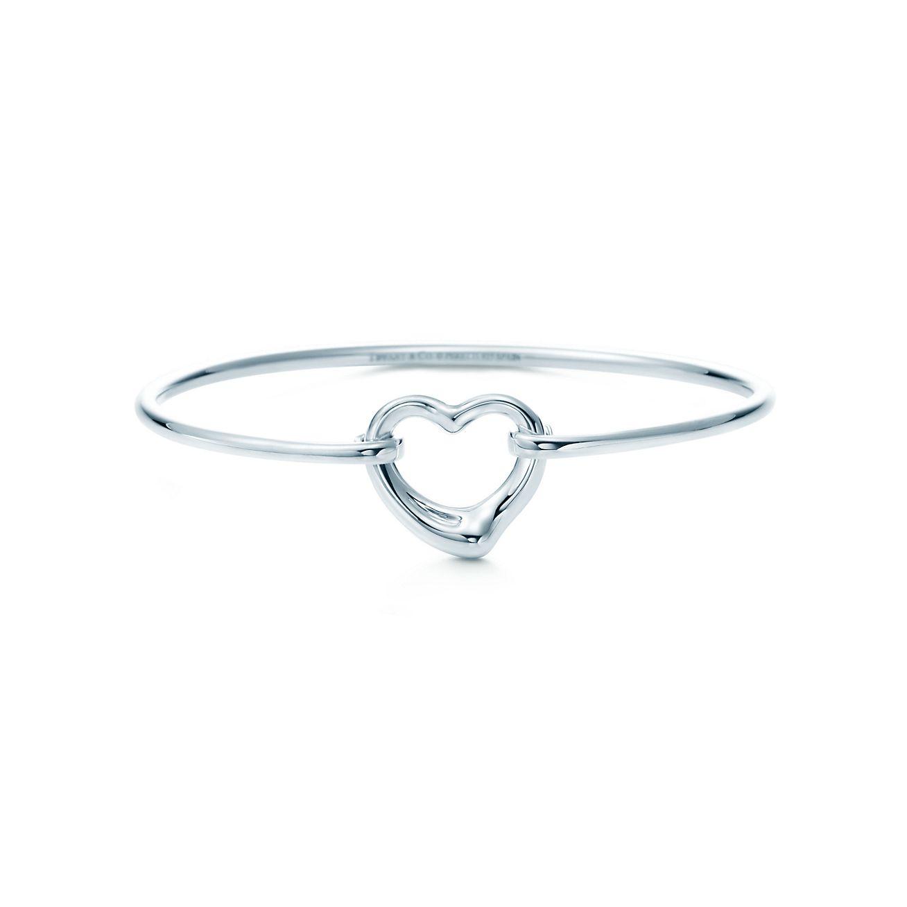 Elsa Peretti Open Heart bangle in sterling silver, medium Tiffany & Co.