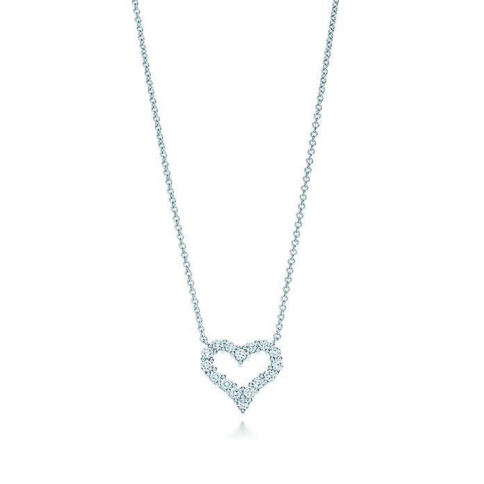 ae9ed6f2b Pendant in platinum with diamonds, mini. | Tiffany & Co.