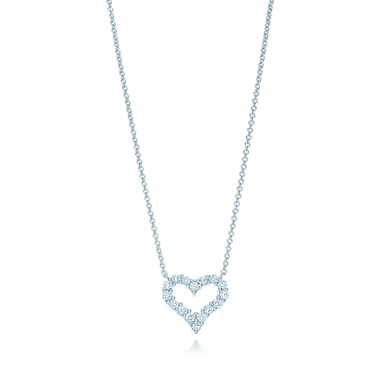 diamond estate necklace jewelry heart pendant platinum co tiffany