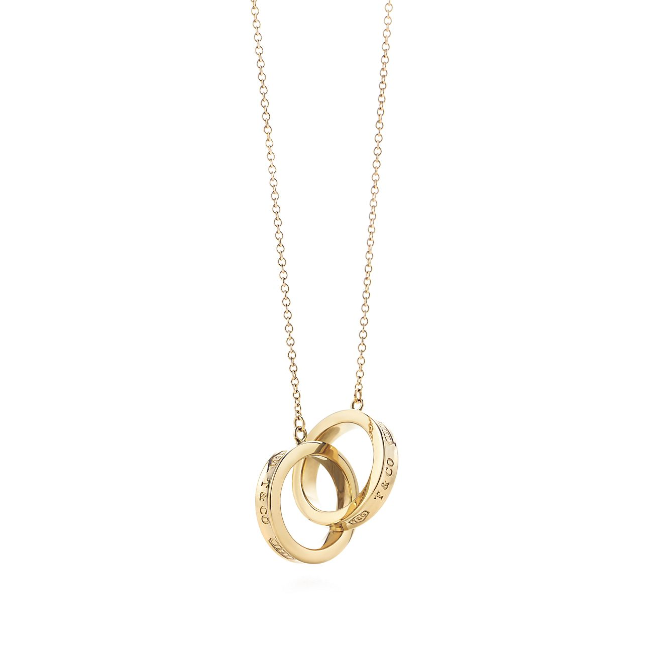 Tiffany 1837 interlocking circles pendant in 18k gold, small Tiffany & Co.