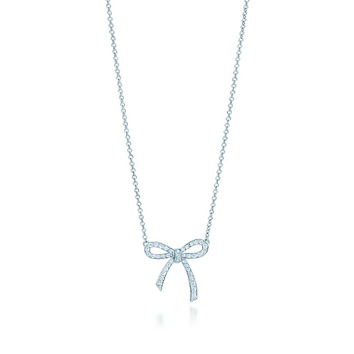 090861d2b8d1 Tiffany Bow pendant in platinum with diamonds