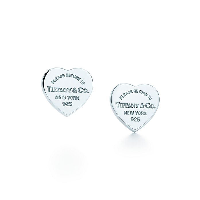 2e7e5b734 Return to Tiffany™ mini heart tag earrings in sterling silver ...