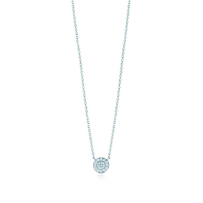 43dfb321d Tiffany Circlet pendant with diamonds in platinum, mini. | Tiffany & Co.