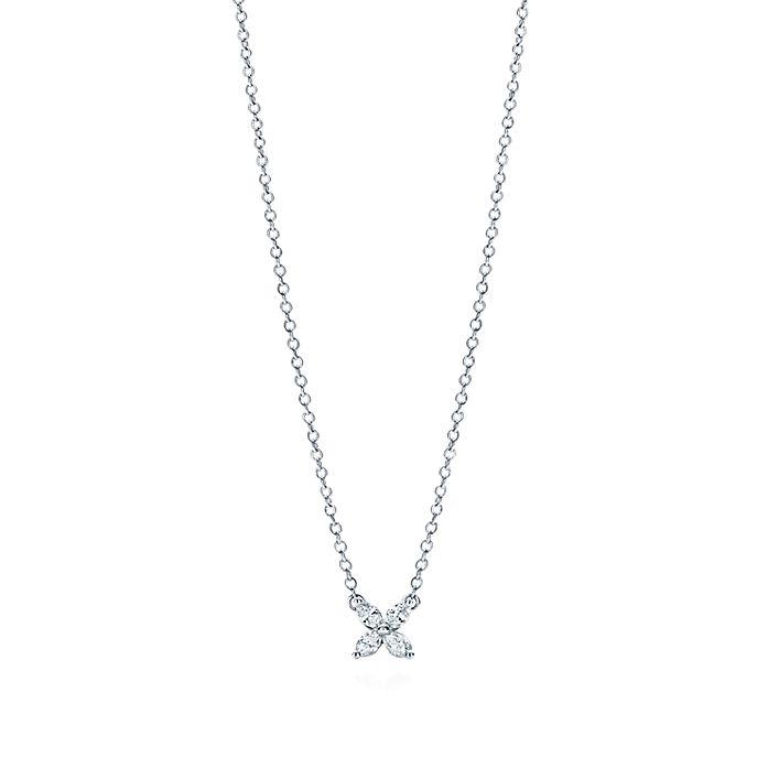 d2ecddf8e8f2 Tiffany Victoria® pendant in platinum with diamonds