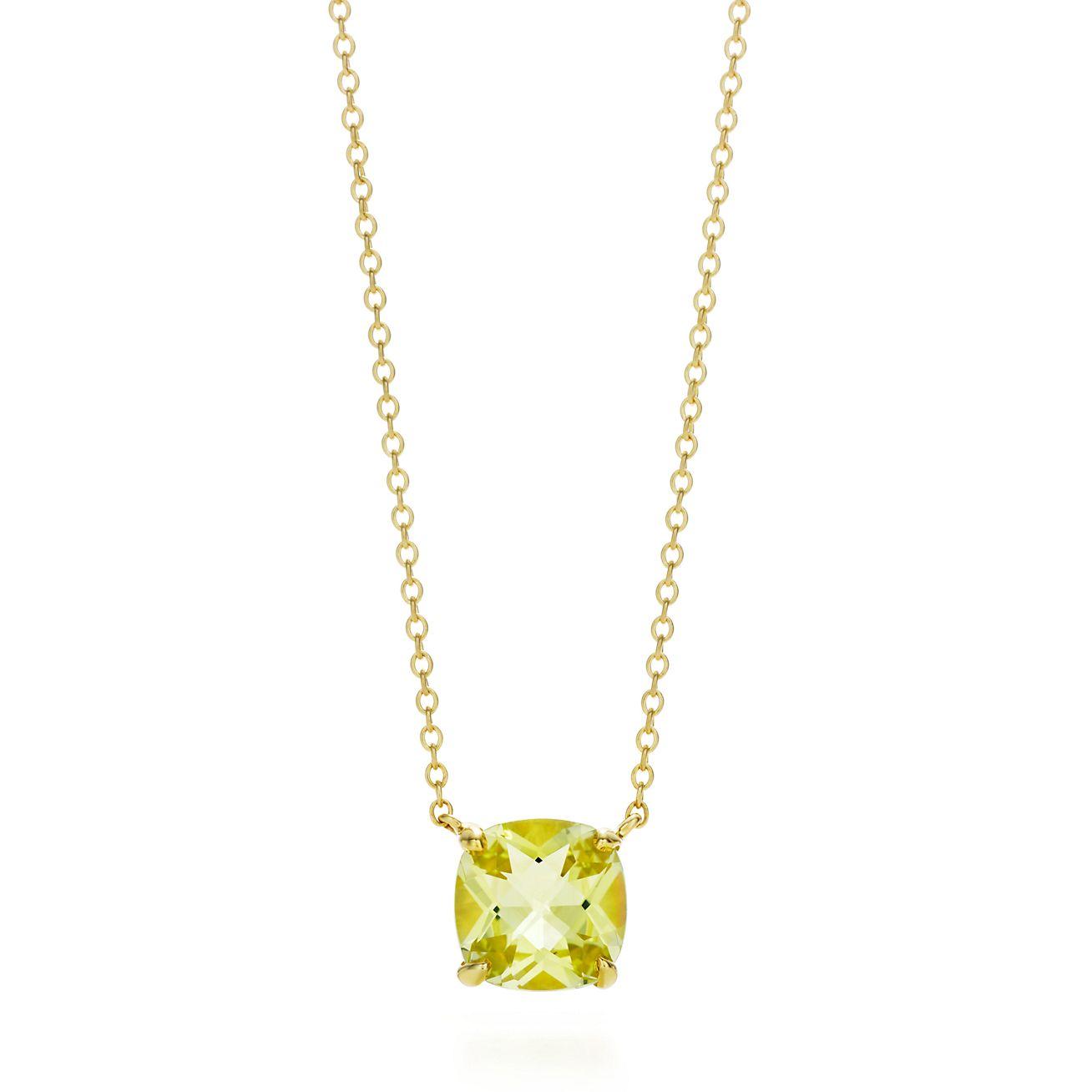 Tiffany Sparklers Yellow Citrine Pendant