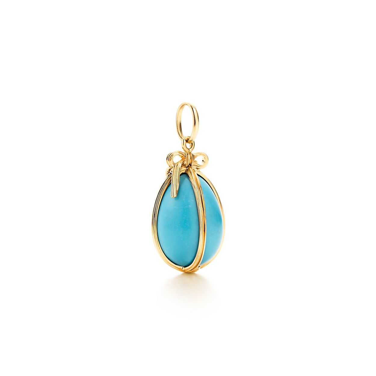 Tiffany & Co Schlumberger Egg charm of turquoise with 18k gold, small Tiffany & Co.