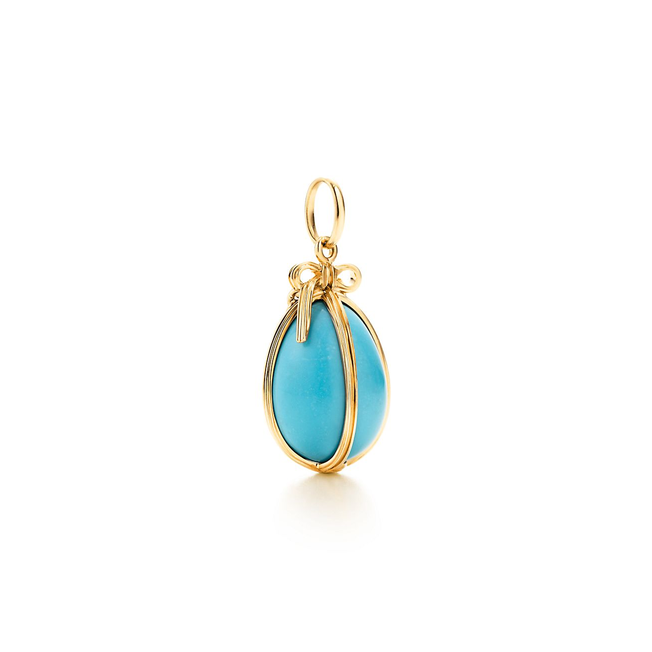 Tiffany co schlumberger egg charm of turquoise with 18k gold tiffany co aloadofball Images