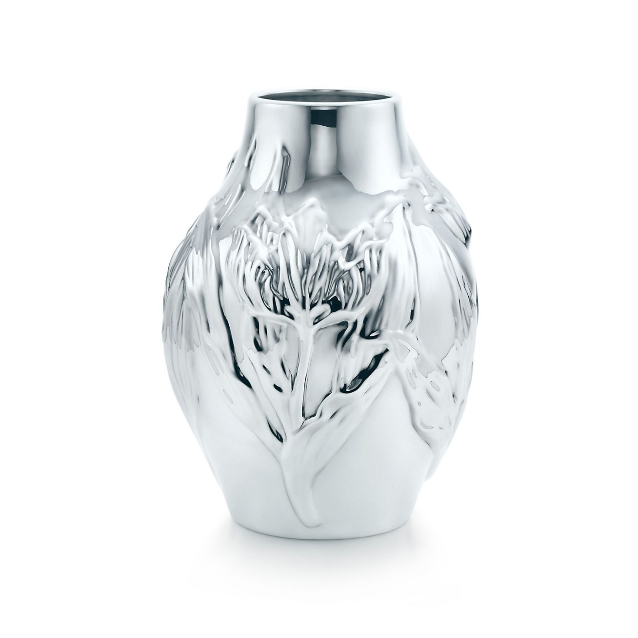 Metallic Silver Mini Metal Bud Vase