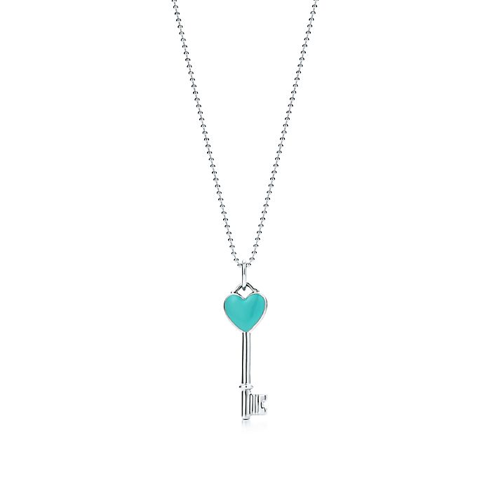 4b212c0e184 Tiffany Keys heart key pendant in sterling silver, mini. | Tiffany & Co.