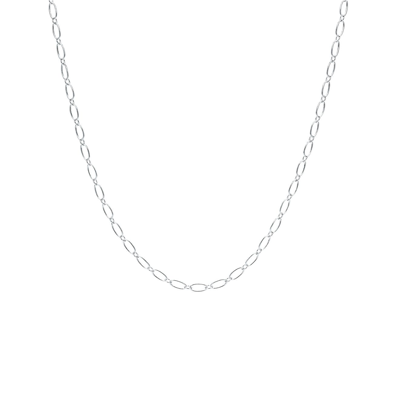silver en sterling necklace link oval big