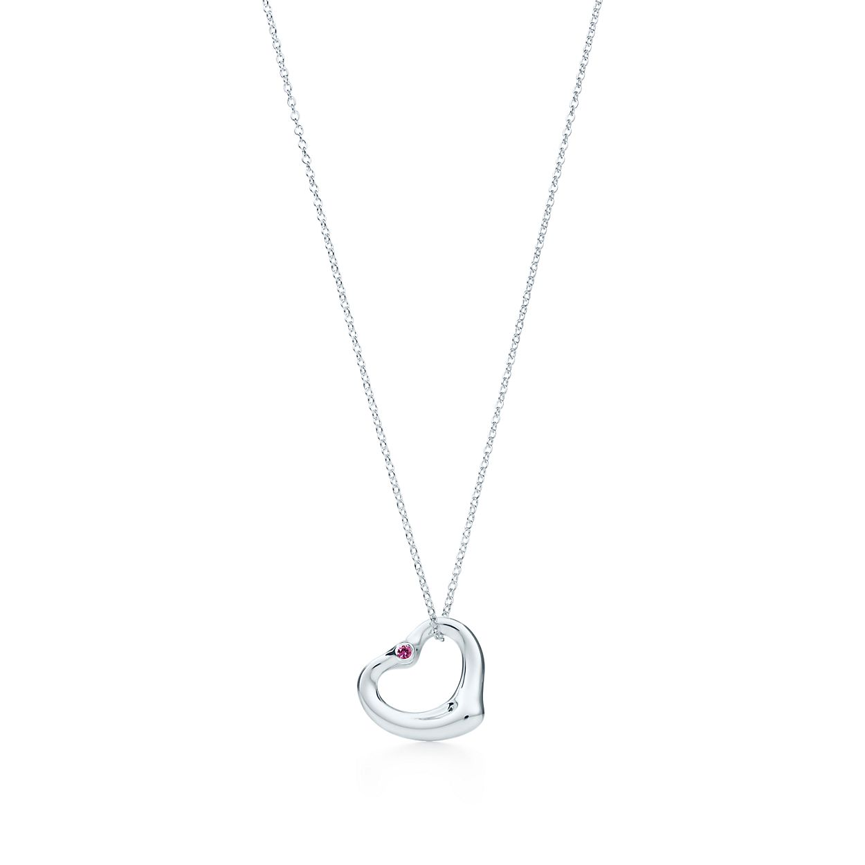 and pendant gold sapphire necklace i mini heart white tiffany chain metro co pink