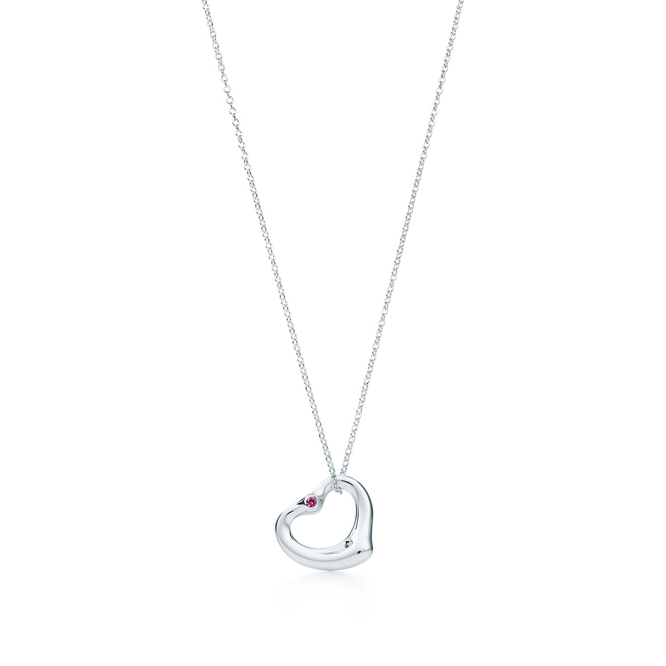 image diamond eternity heart white gold open pendant diamonds chain and