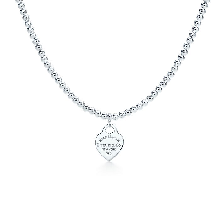 09bf9b2ec Return to Tiffany® small heart tag in sterling silver on a bead ...