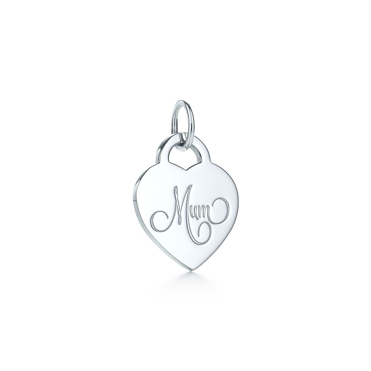 Mum heart tag charm in sterling silver medium tiffany co mum heart tag charm aloadofball Image collections