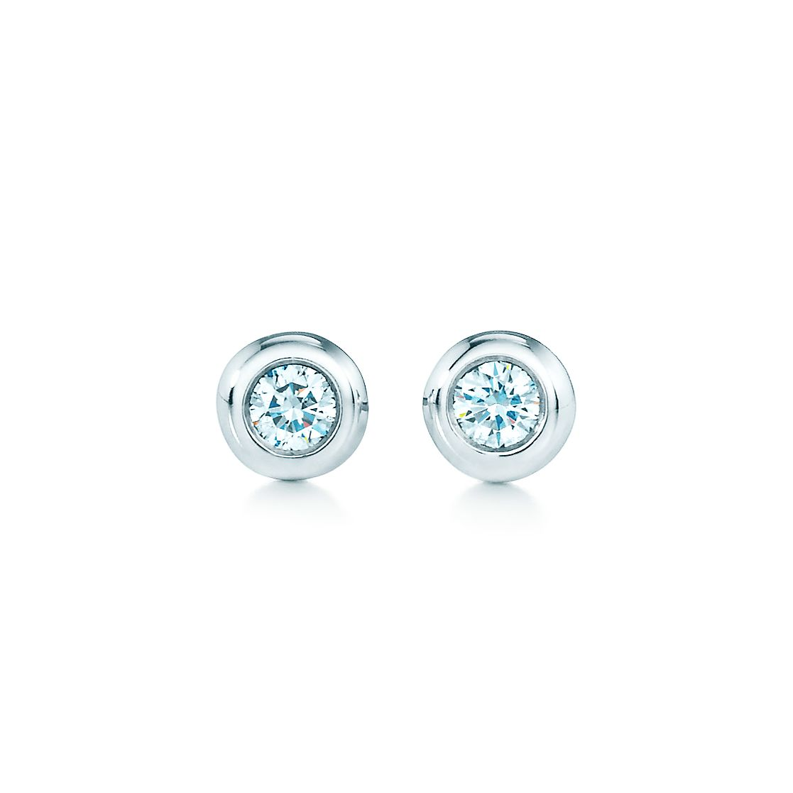 stud earrings aquamarine gold products feu diamond w white