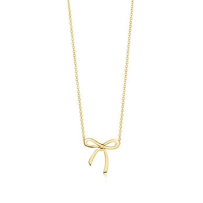 e1297f5b3 Bow pendant in 18k gold, mini.   Tiffany & Co.