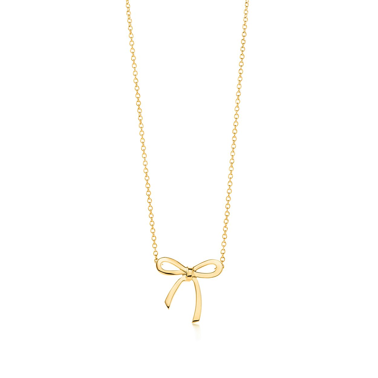 Bow pendant in 18k gold mini tiffany co bow pendant bow pendant aloadofball Images